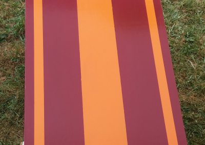 Orange Maroon Stripe board